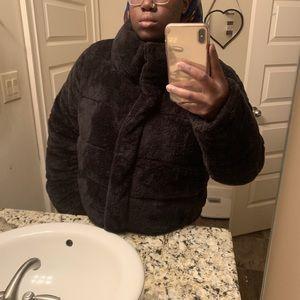 Boohoo Jackets & Coats - Black faux fur padded jacket